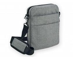 Polyesterová taška s ramenním popruhem HIDEA DESIGN GRAPHS - světle šedá