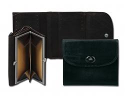 Kožená peněženka Uniko ZIPPERS - černá