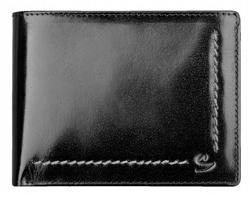 Kožená pánská peněženka Santini ANGELO - černá