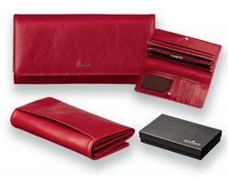 Elegantní dámská kožená peněženka Uniko ESTELLE - červená