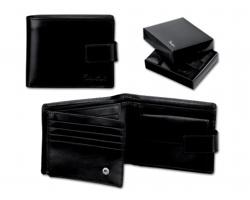 Pánská kožená peněženka Santini GASPARO - černá