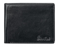 Značková kožená pánská peněženka Santini CORNELL s kapsami na vizitky - černá