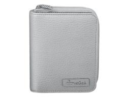 Značková dámská peněženka Santini CESSIE s 6 kapsami na vizitky - stříbrná
