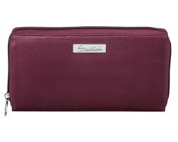 Značková dámská peněženka Santini KIARA v dárkové krabičce - bordó