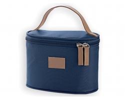 Kosmetická taška MEDEA s elegantním poutkem - modrá