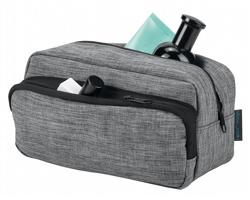 Polyesterová kosmetická taška KEVIN - šedý melír