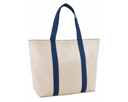 Bavlněná nákupní taška SOPHOS se zavíráním na magnet - modrá