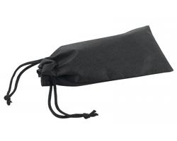 Textilní pouzdro na brýle POUCHI se stahovací šňůrkou - černá
