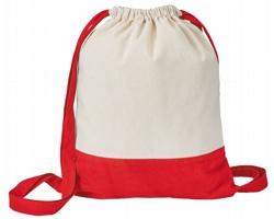 Bavlněný stahovací batoh MILA - červená