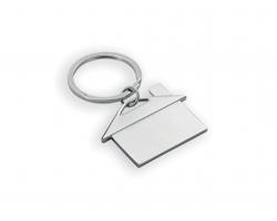 Kovový přívěsek CHALET II tvaru domečku - stříbrná