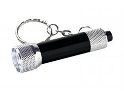 Kovový přívěsek na klíče LED svítilna LAMP II - černá