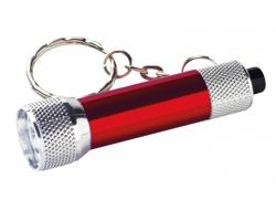 Kovový přívěsek na klíče LED svítilna LAMP II - červená