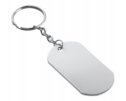 Kovový přívěsek na klíče SYLAS - saténově stříbrná