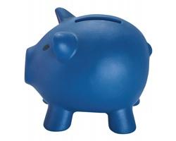 Plastová pokladnička SKUDLIK tvaru prasátka - modrá