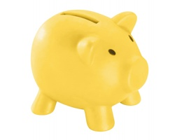 Plastová pokladnička SKUDLIK tvaru prasátka - žlutá