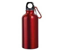Hliníková outdoorová láhev BARAC II s karabinou, 400 ml - červená