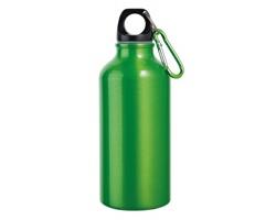 Hliníková outdoorová láhev BARAC II s karabinou, 400 ml - světle zelená