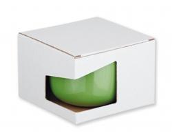 Papírová dárková krabička GB CHUBBY - bílá