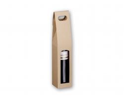 Dárková papírová krabice SINGLE BOX na jedno víno - přírodní