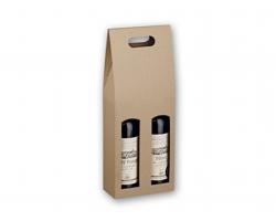 Dárková krabice DOUBLE BOX pro dvě láhve vína - přírodní