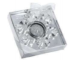 Vánoční svíčka CANDLE FLAKE - stříbrná