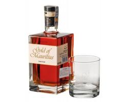 Sada rumu Mauricia GOLD MAURITIUS se skleničkou