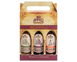 Dárková kazeta tří druhů medoviny DELUXE PACK, 3 láhve