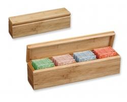 Dárková sada čajů Sonnentor VARIACE v dřevěné krabičce, 4x8ks - přírodní
