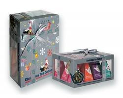 BIO sypaný čaj English Tea Shop CHRISTMAS PYRAMIDS ve vánočním dárkovém balení, 20 pyramidových sáčků