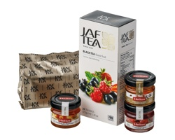 Dárková sada černého čaje Jaf Tea SWEETEA I s marmeládou a medem