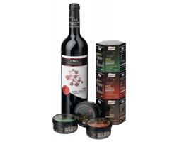 Dárková sada vína BURGOS a 3 paštik