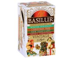 Vánoční kolekce černého a zeleného čaje Basilur XMAS COLLECTION I, 20 sáčků