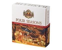 Zimní kolekce černého a zeleného čaje FOUR SEASONS TEA, 40 sáčků