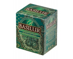 Sada zelených čajů s marockou mátou Basilur LITTLE MAROCCO v papírové krabičce, 10 sáčků - zelená