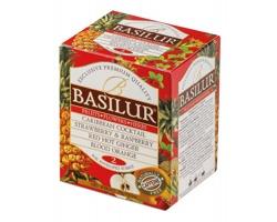 Variace 4 druhů ovocného čaje Basilur LITTLE INFUSION 10 sáčků v papírové krabičce, 18g - červená