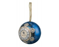 Sypaný černý čaj RICHARD CLOCKS v plechové krabičce, 30g - královská modrá