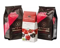 Dárková sada mleté kávy INTENSE GIFT a BIO třešní v čokoládě, 85g