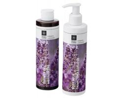 Kosmetická sada sprchového gelu a tělového mléka LAVENDER WINTER s vůní levandule - fialová