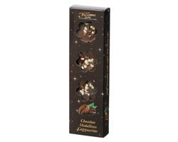 Mléčné čokoládové medailonky CAPPUCCINO MILK s posypem capuccino - hnědá