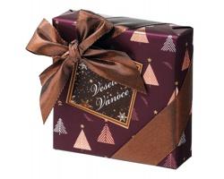 Výběr belgických pralinek NOBLE TREES III v dárkové vánočním balení, 50g