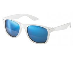 Plastové sluneční brýle PALAWAN s barevnými zrcadlovými skly - světle modrá
