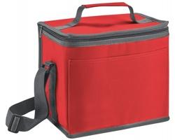 Polyesterová termotaška MELEK s ramenním popruhem - červená