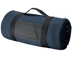 Fleecová cestovní deka FIT II s popruhem - modrá
