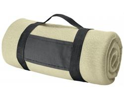 Fleecová cestovní deka FIT II s popruhem - béžová