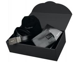 Dárkový set peněženky a pásku Santini SAN SET v dárkové krabičce - přírodní