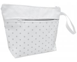 Eko kožená dámská kosmetická taška DESAREE s poutkem - bílá