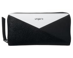 Značková dámská peněženka Ungaro UNGARO TRIANA PURSE - tmavě šedý melír