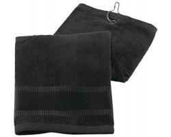 Bavlnění golfový ručník GOLF TOWEL II - černá