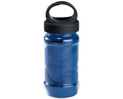 Chladicí sportovní ručník KALISTO v plastové láhvi - královská modrá