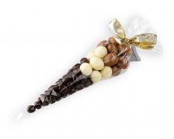 Dárkový kornout s oříšky v čokoládě KOKY s mašlí